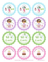 Free Printable Spa Party Cupcake Toppers by SPAradise ...