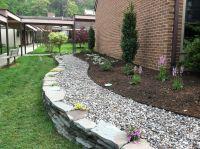Brown soil and white rocks Garden | Garden Designs ...