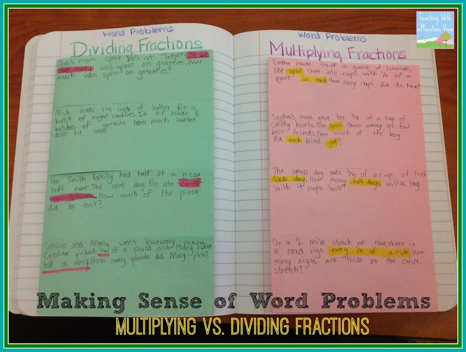 5 3j Multiplying And Dividing Fractions Word Problems