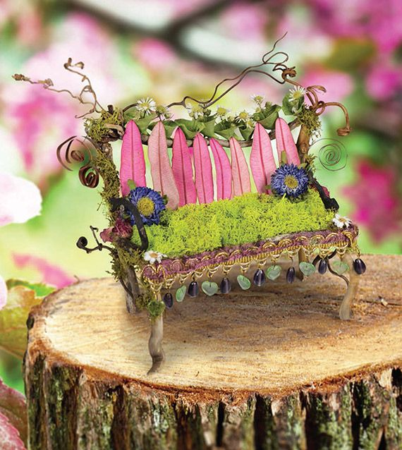 Fairy House Pink Bench The Fantastical World Of Fairy Houses