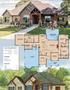 Architectural designs house plan mk gives you beds baths and over sq also bed southern craftsman with side load garage rh pinterest