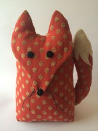 Handmade Fox Door Stop. Taken From Facebook Page A Bundle
