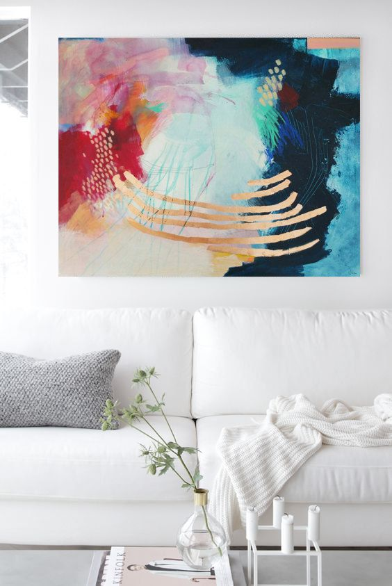 Abstract painting large mixed media canvas art  inches de  also rh pinterest