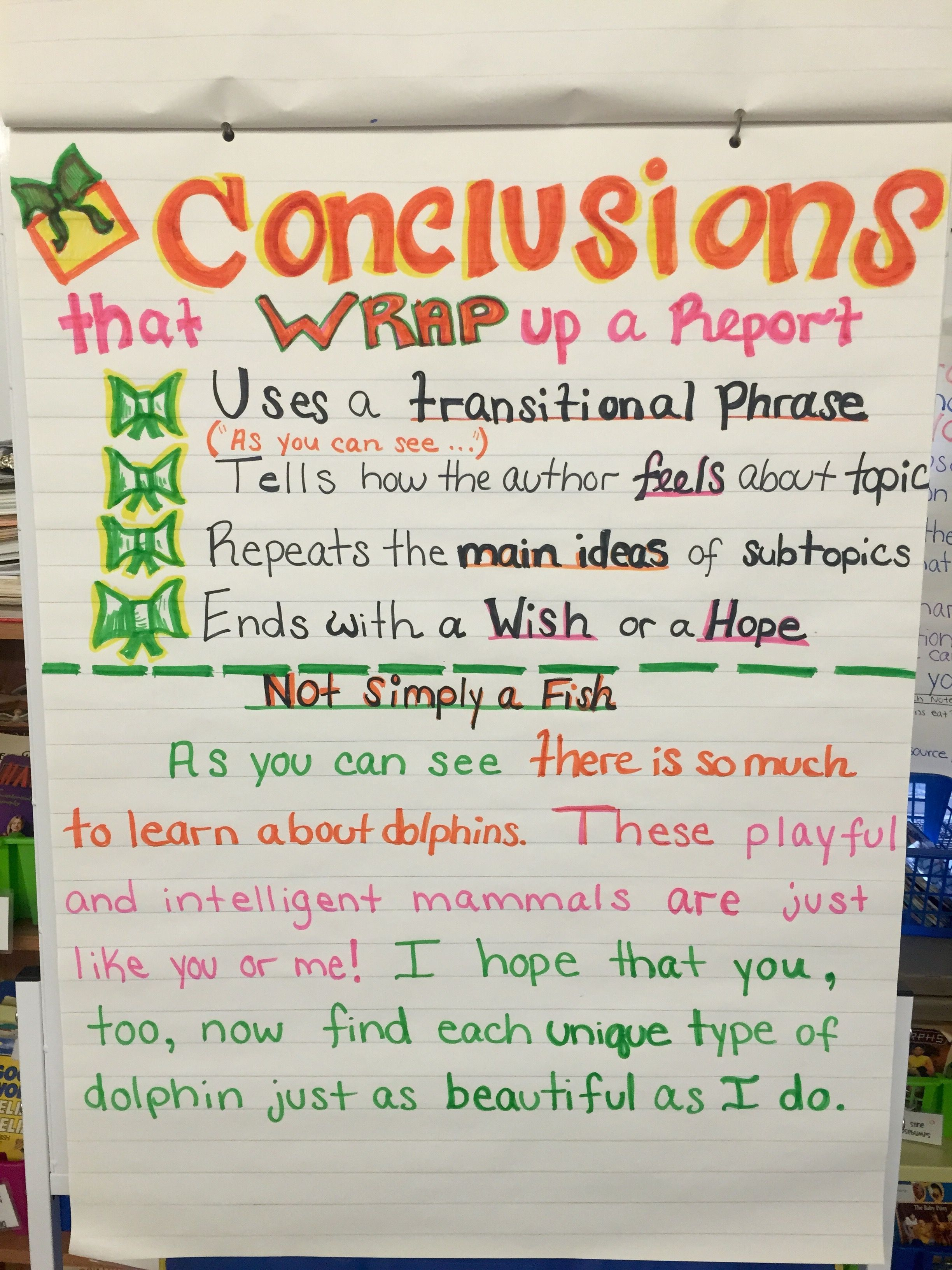 How To Write A Conclusion To A Nonfiction Report About An