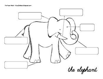 FREE........Label the Elephant.Also included is a have