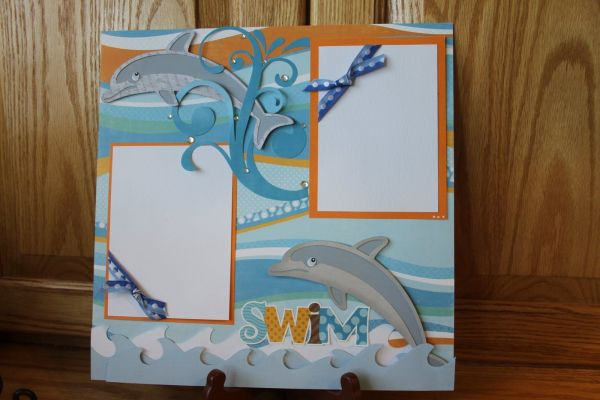 Cute Dolphin Layout Papercrafts And Scrapbooking