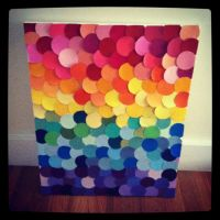 Paint chip wall art - this is something I might be able to ...