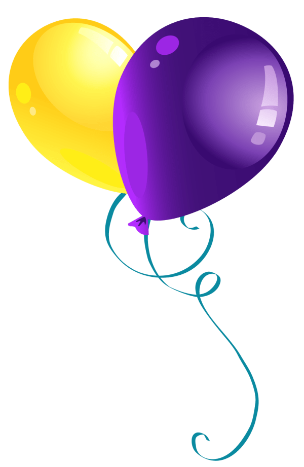 yellow and purple balloons