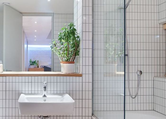 put everything that  ve always loved into this house says tyler  and includes white tiles edged with gray grout in the bathroom  design move also decor inspiration cork decoration trends interior