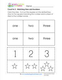 Kindergarten Math Worksheets One To One Correspondence