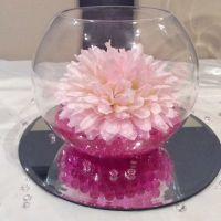 Pink wedding fishbowl centrepiece | B's Thing | Pinterest ...