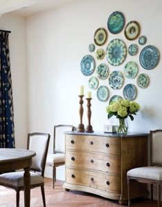 Sunday at home  decorating with stuff you already have also plate wall rh za pinterest