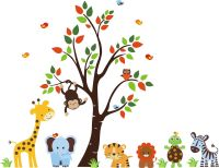 Jungle Animals Wall Decals-Jungle Animal Wall Decals with ...