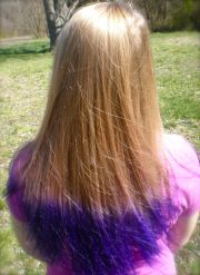 purple tips #blonde #purple
