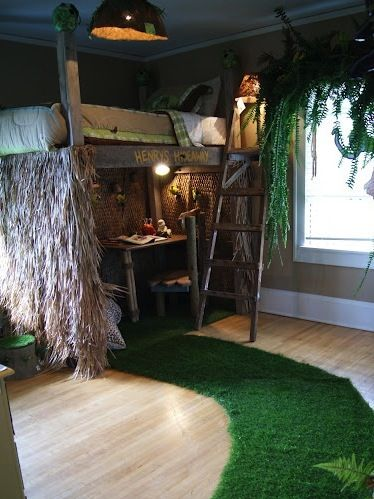 Tree House Bed In Boys Jungle Room Home Idead Pinterest