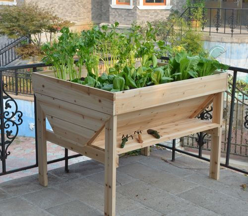 Raised Garden Trough Planters