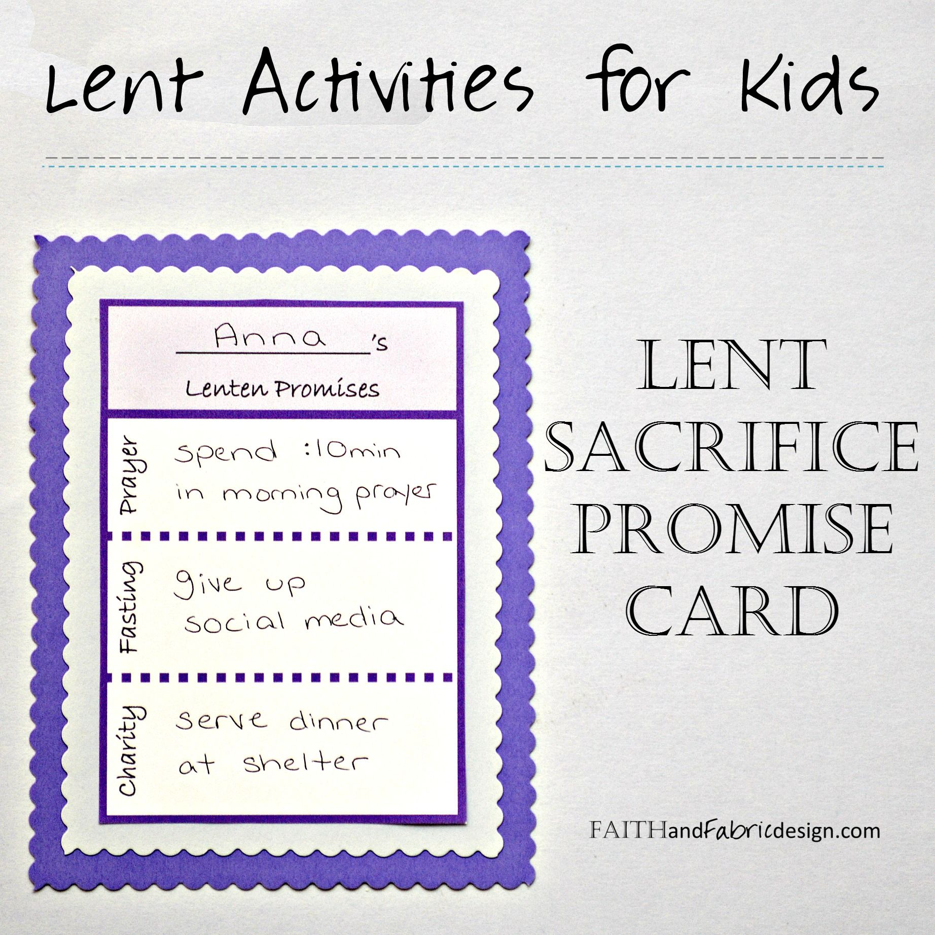 Lent Activity Worksheet High School