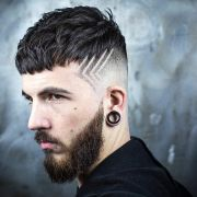 funky hairstyle man fade