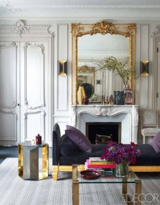 On the blog interiors  glamorous paris apartment by champeau hello sukio apartments living rooms and elle decor also rh pinterest