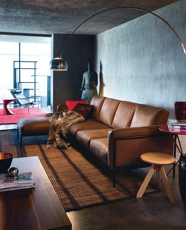 Die graue Wand Wohnen mit Farben Grau und dunkle Hlzer  Schner wohnen farben Schner