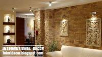 modern stone wall tiles design ideas for living room ...