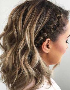 cute braided hairstyles for short hair also rh pinterest