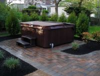 Free paver patio designs with hot tub . Don't forget to ...