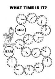 English teaching worksheets: Telling the time (and other