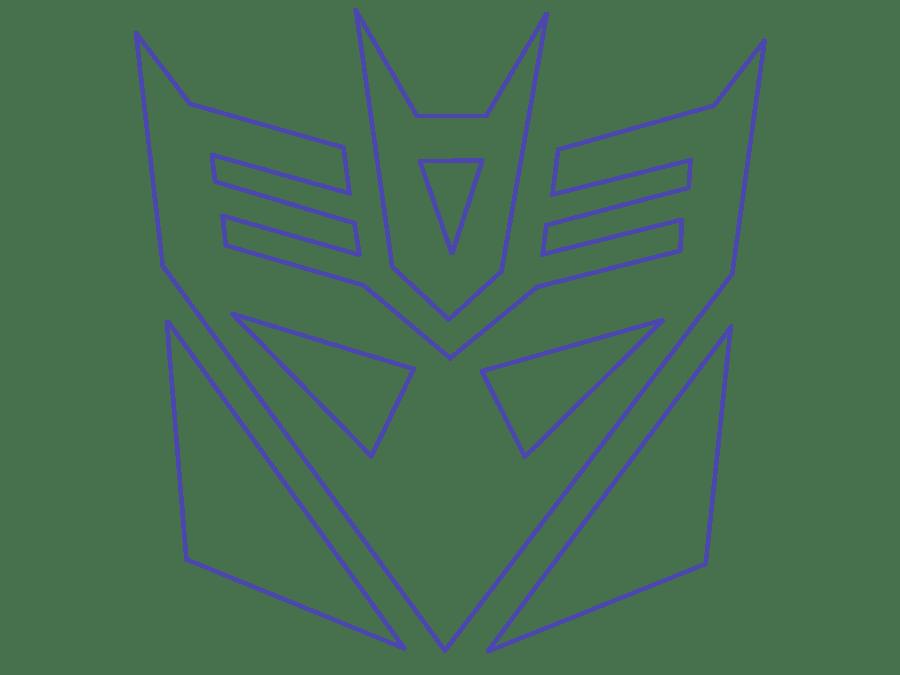 Transformers Decepticon Symbol Drawing
