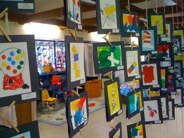 Preschool Art Show Display