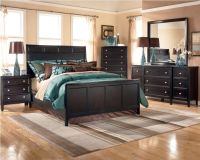 Ashley Carlyle Panel Bedroom Set - B371 - Black Bedroom ...