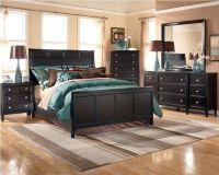 Ashley Carlyle Panel Bedroom Set - B371 - Black Bedroom ...