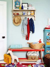 cute coat rack, doorway storage for a kids room, love the