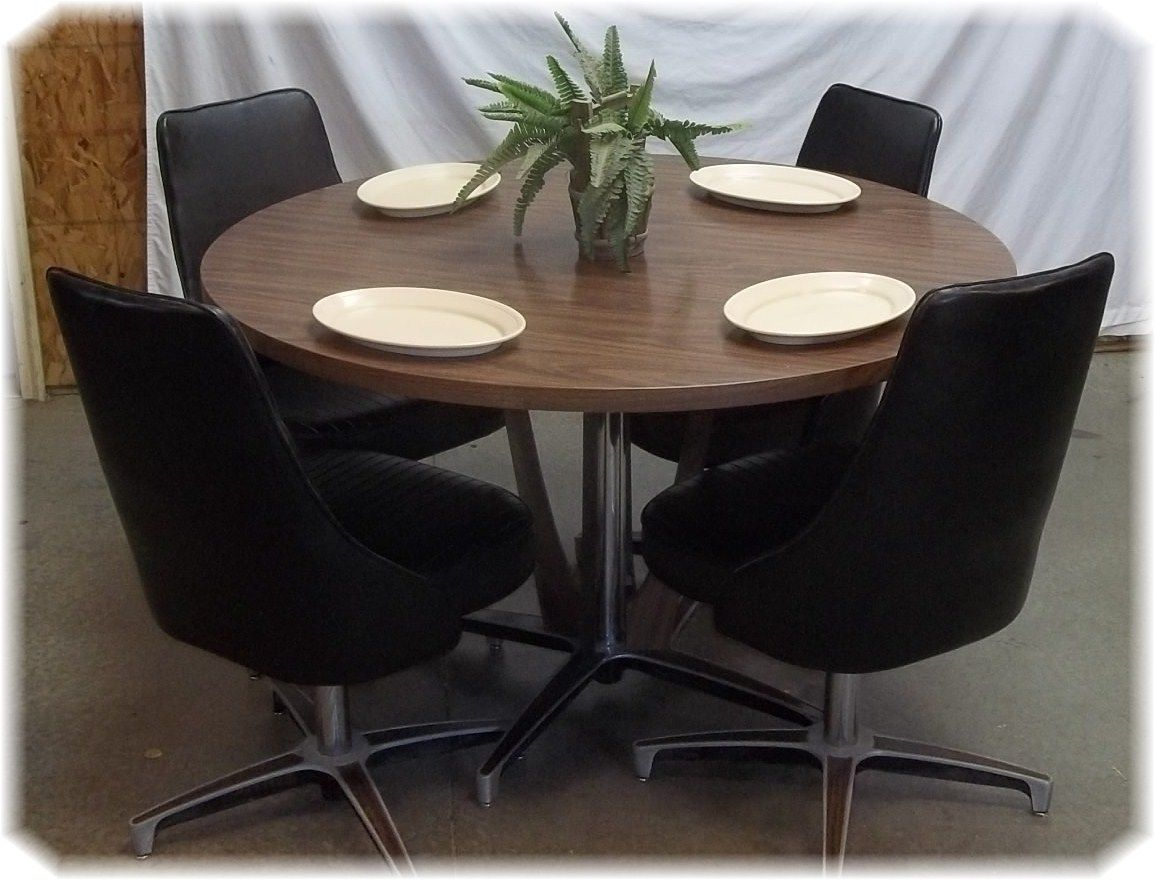 50s Table And Chairs Chromcraft Dining Room Set Table Chairs Black Chrome Craft