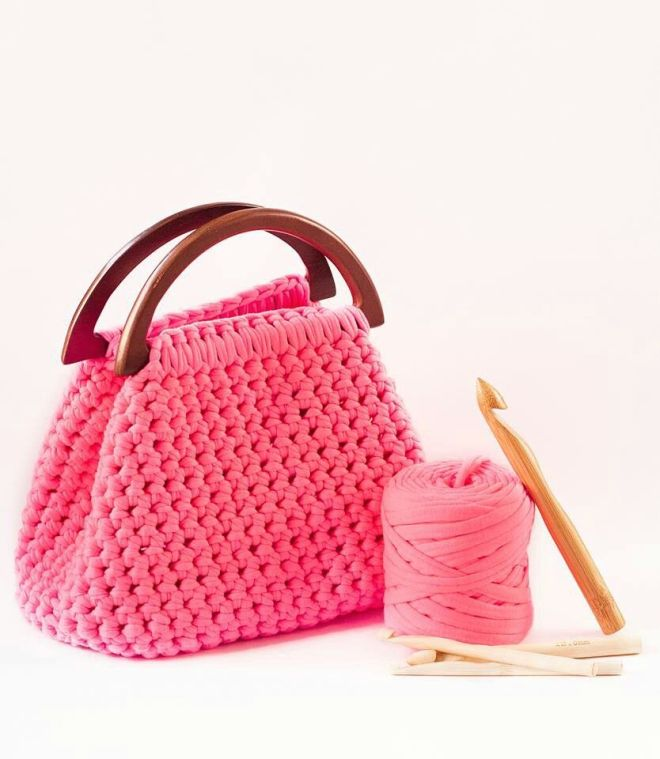 Crochet diy t shirt yarn bag t shirt yarn purchase link