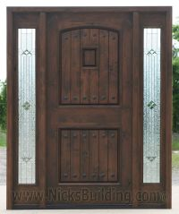 Black Walnut wood Stain Color Knotty Alder Doors with ...