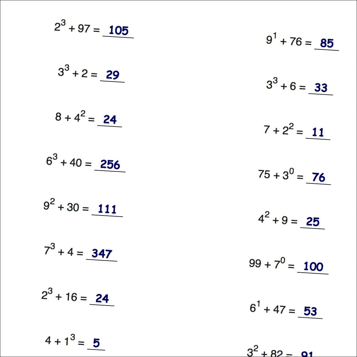 Math Worksheet Grade 4 Order Of Operations