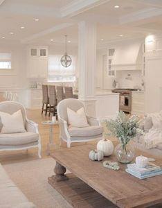 Jshomedesign neutral living room hamptons style restoration hardware traditional home also rh pinterest