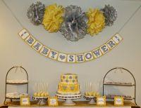 Gray & Yellow Baby Shower | Yellow and Grey Baby Shower ...