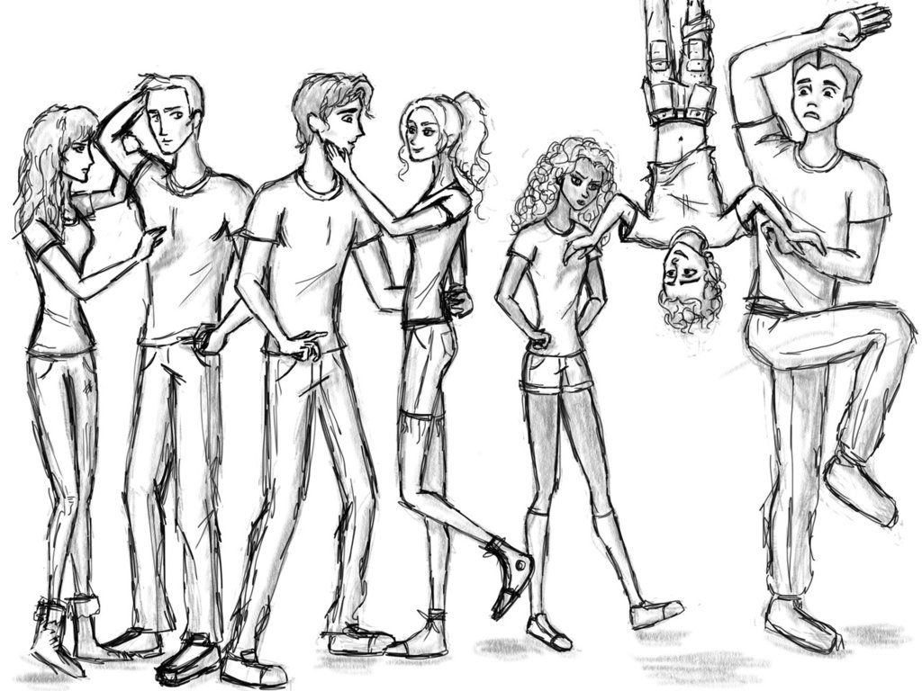 Heroes of Olympus cloored by Larry-and-Lazel on deviantART