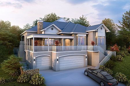Two Storey Hamptons Style Home Plans Floor Plans Pinterest