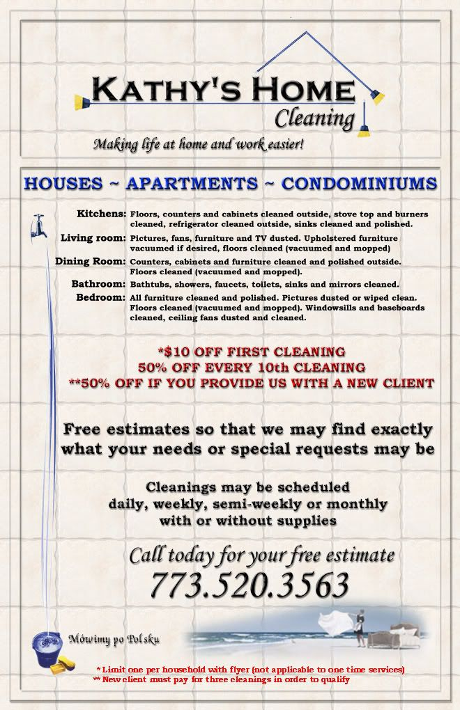 Kathy's Home Cleaning Flyer Flyer Template Free Pinterest