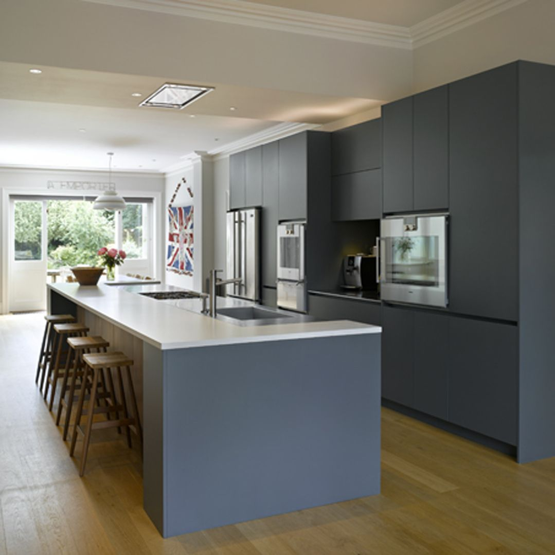 contemporary kitchen island unfinished wall cabinets roundhouse bespoke in