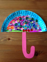 Paper Plate Umbrella Craft - Preschool Craft | Kids Crafts ...