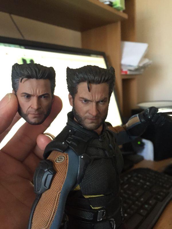DOFP hot toys Wolverine custom head sculpt my stuff 1