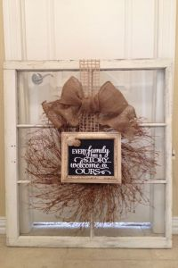 "Wreath & frame on old window | Things by me. AKA ""Refunk ..."
