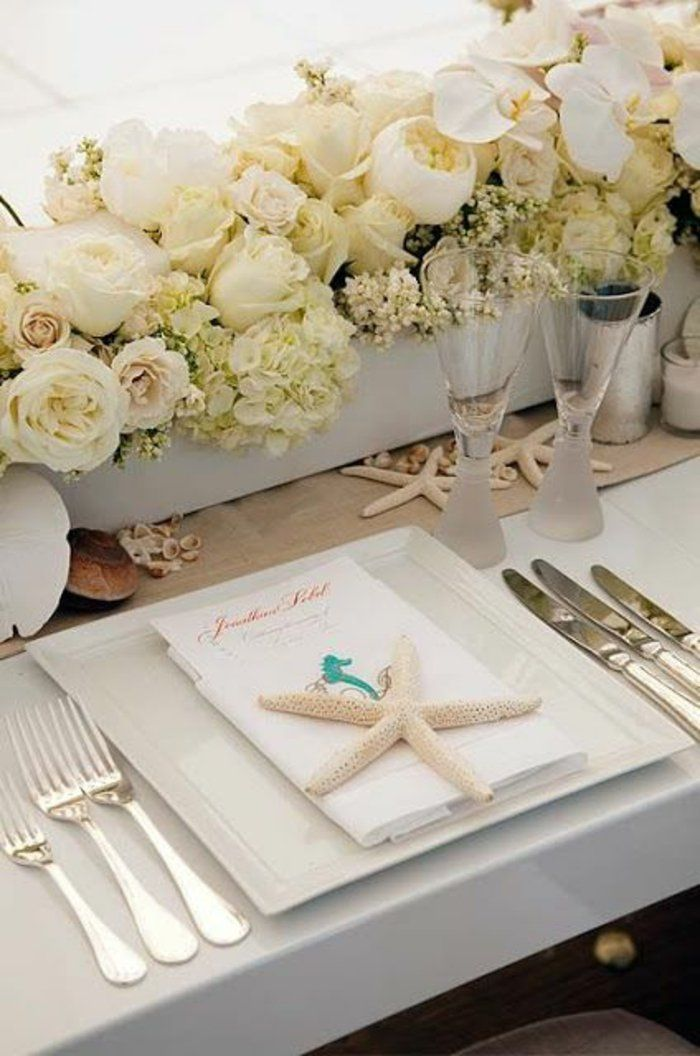 tischdekoration hochzeit blumendeko weie hortensien  Diamantene Hochzeit  Pinterest
