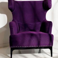 Purple Velvet Upholstered Sofa Queen Sleeper Set Luxe Italian Designer Lounge Chair In Upholstery