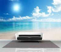 Charming Sunny Beach Wallpaper Ocean Wall Murals Custom ...