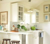White Cabinet Practical Small Kitchen Design Layout ...